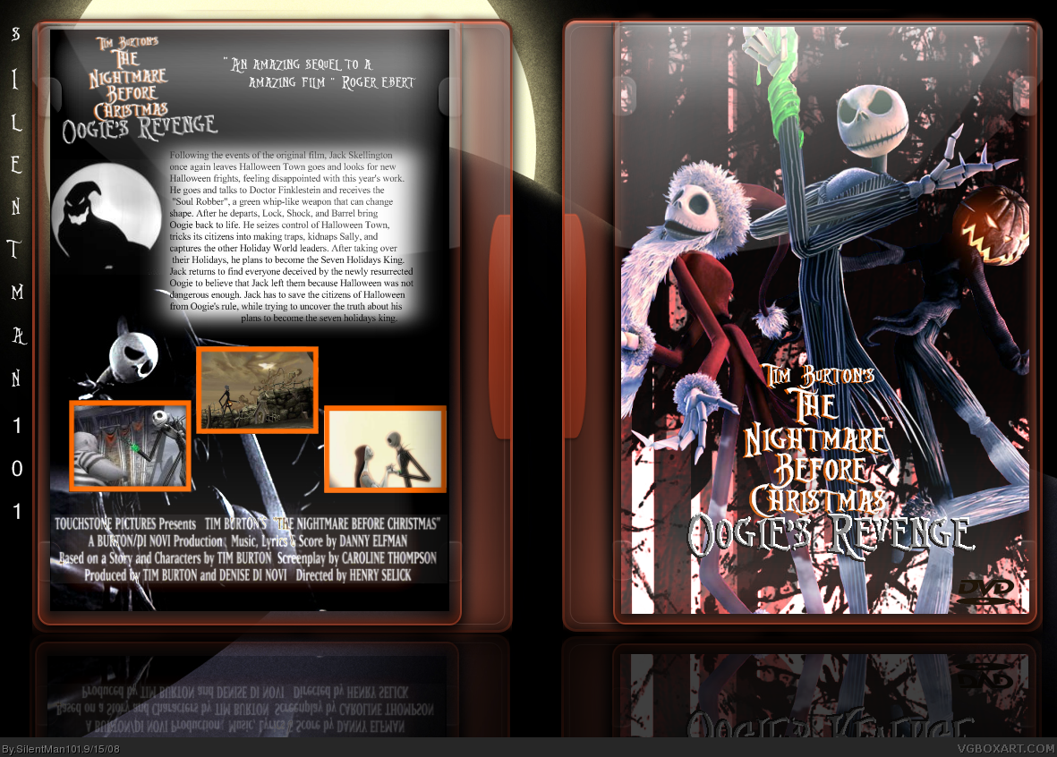 Tim Burton\'s The Nightmare Before Christmas 2 Movies Box Art Cover ...