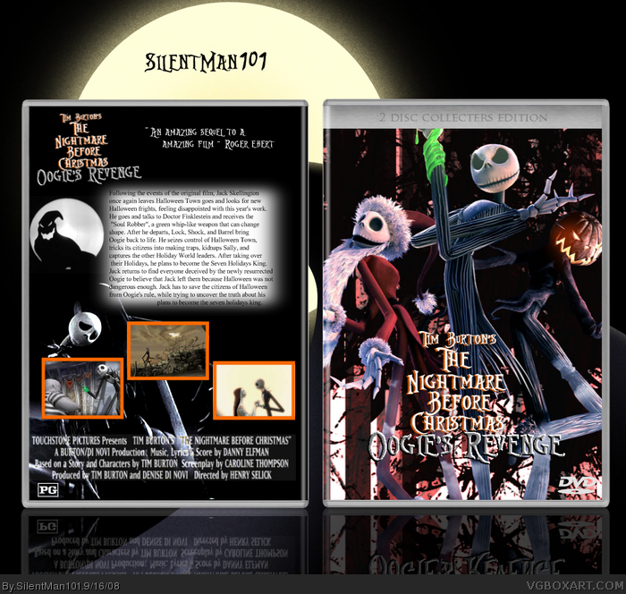 Tim Burton's The Nightmare Before Christmas 2 Movies Box Art Cover ...