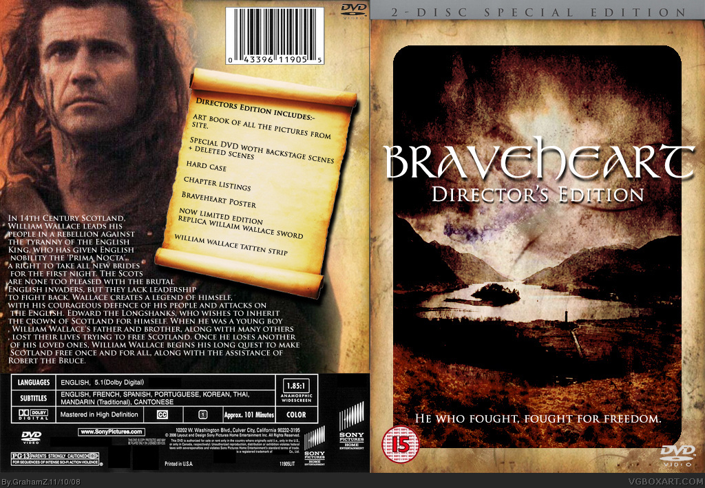 Braveheart box cover