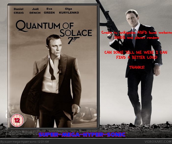 Quantum Of Solace Movies Box Art Cover by super-mega-hyper-sonic Quantum Of Solace Cover
