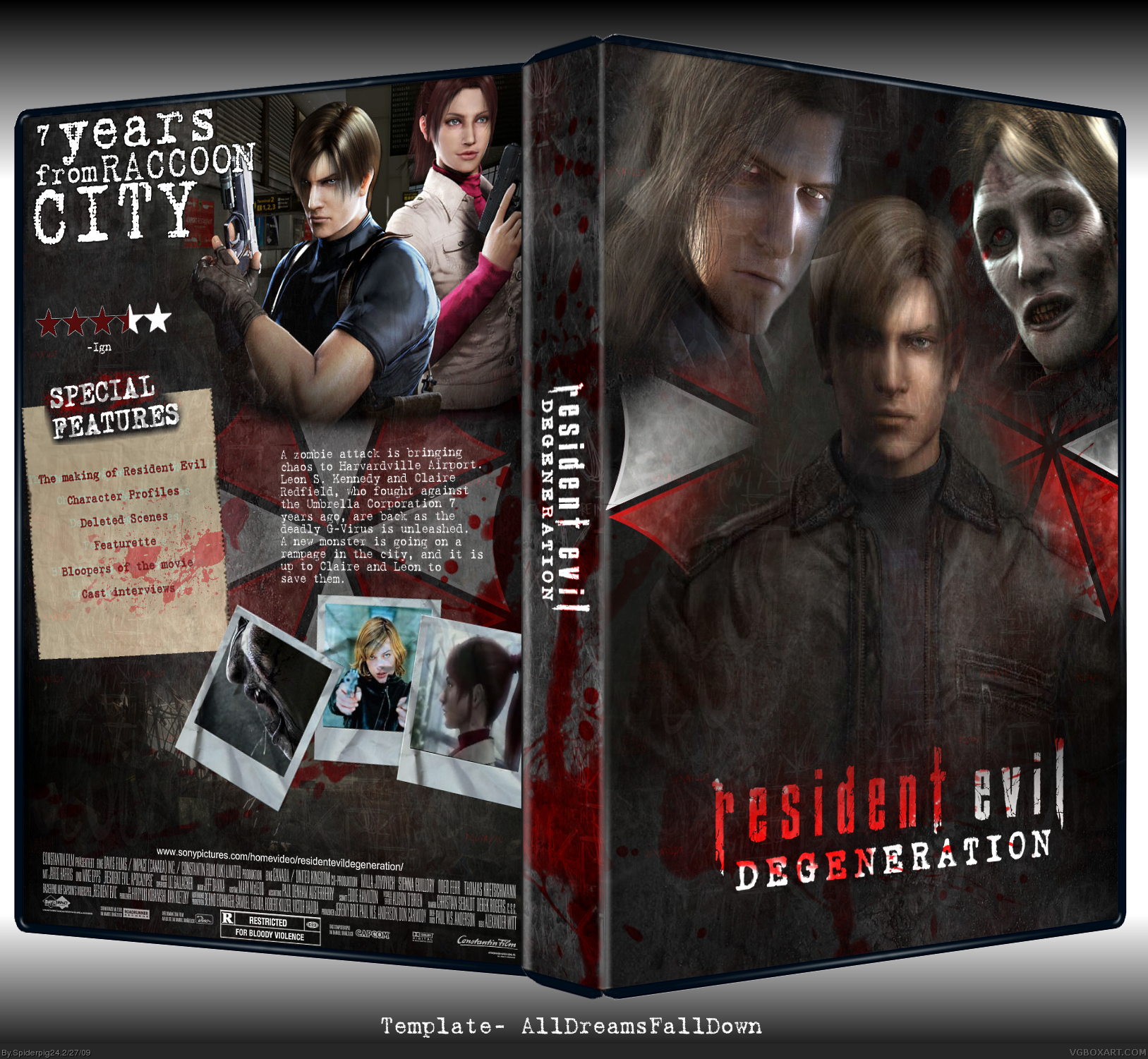 resident evil degeneration movies box art cover by