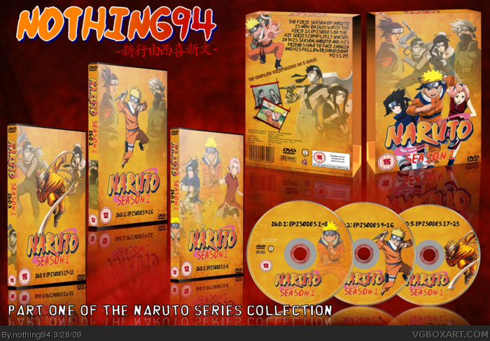 Naruto Season 1 box art cover