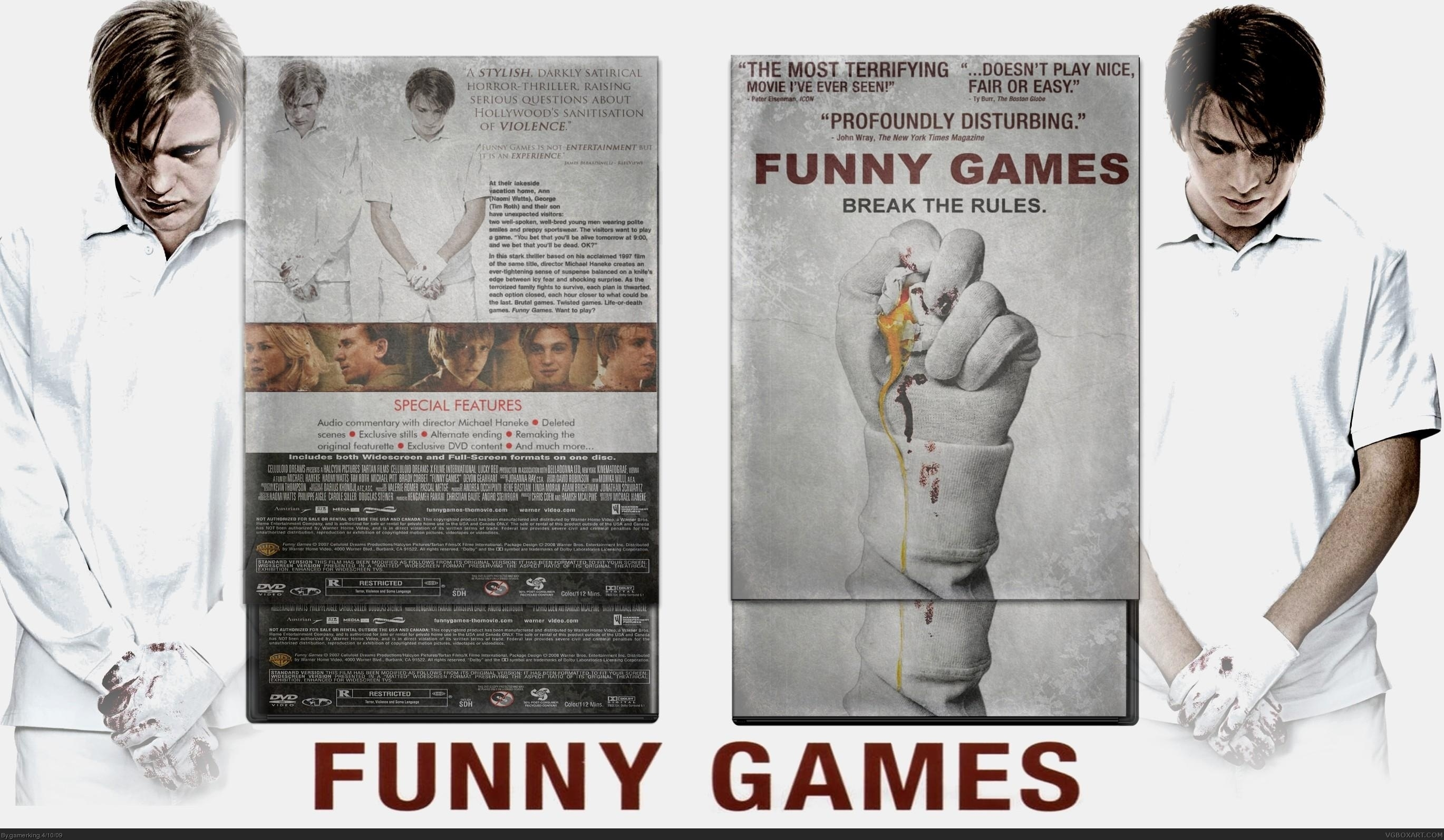 Funny games box cover comments