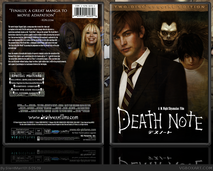 Death Note Movies Box Art Cover by SilentMan101