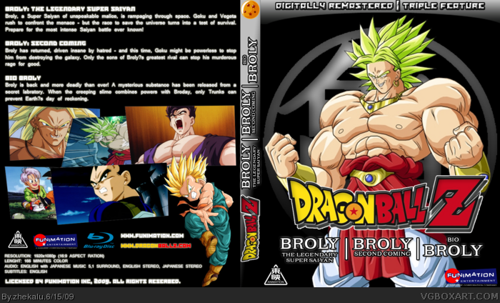 Broly Triple Feature Dragon Ball z Broly Triple