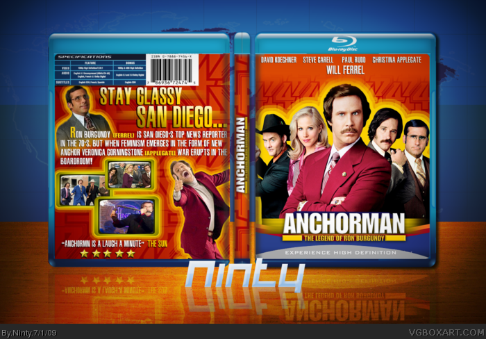 Anchorman: The Legend of Ron Burgundy box art cover