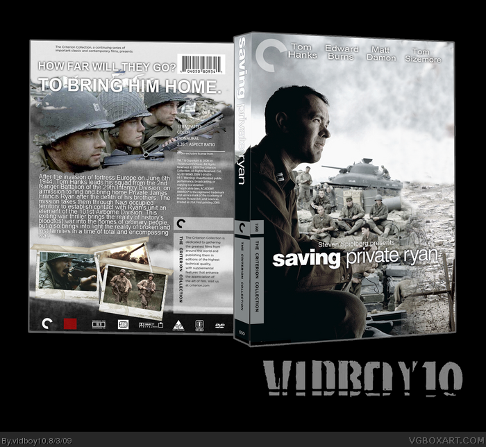 Saving Private Ryan box art cover