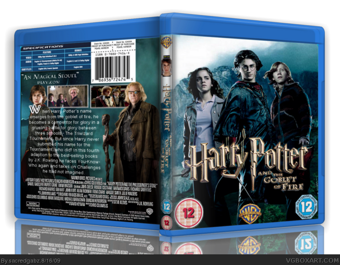Harry Potter and The Goblet of Fire box art cover