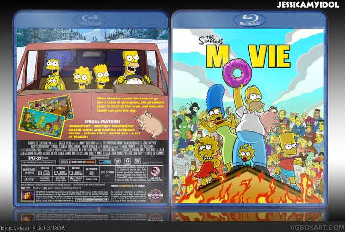 The Simpsons Movie box art cover