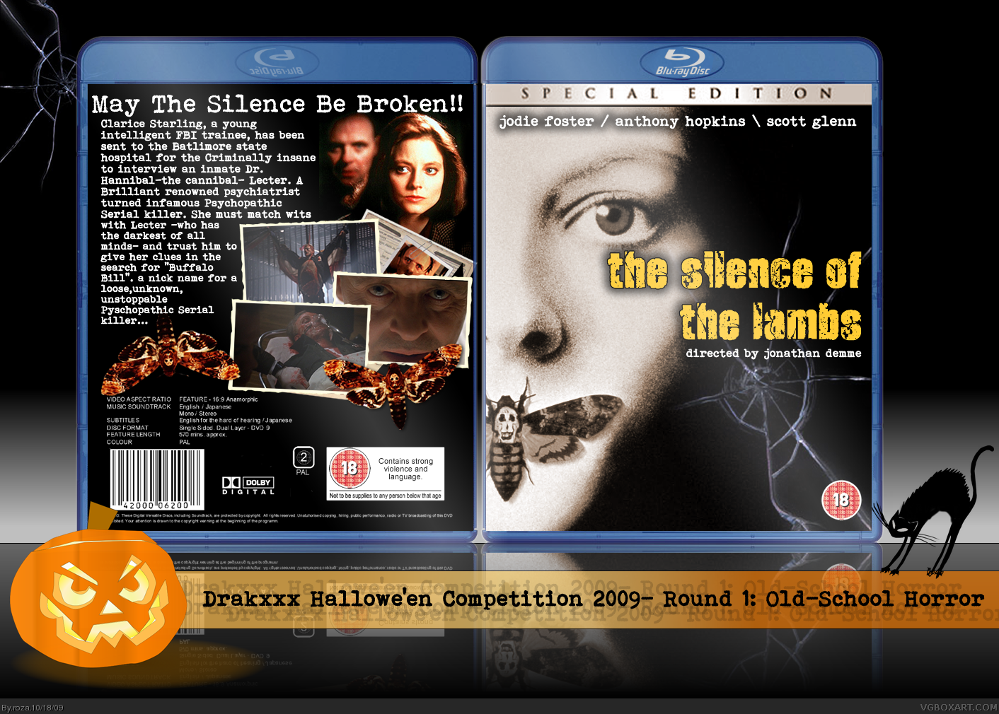 Viewing full size The Silence of the Lambs box cover by roza [ Back ] Silenceofthelambs
