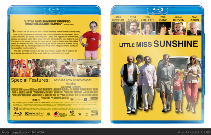 Little Miss Sunshine box art cover