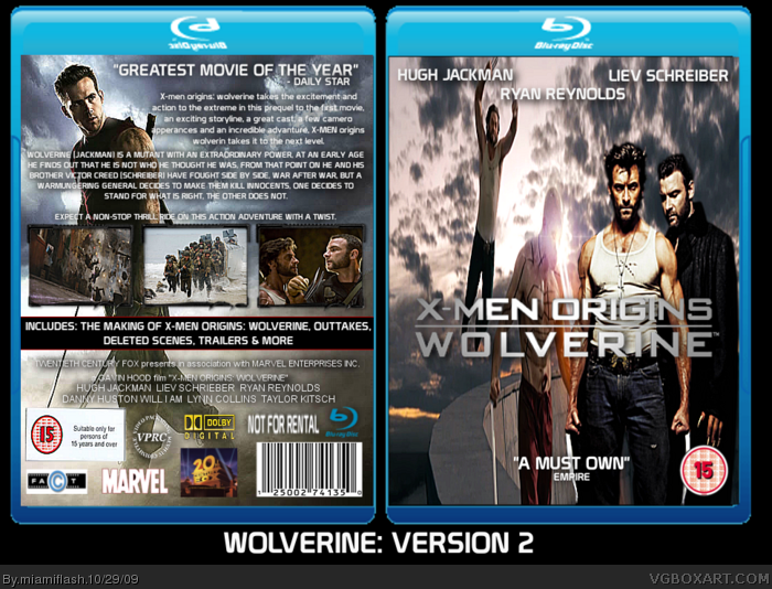 X-Men Origins: Wolverine box art cover