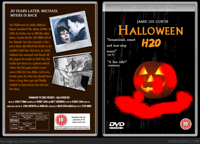 Halloween H20 box art cover
