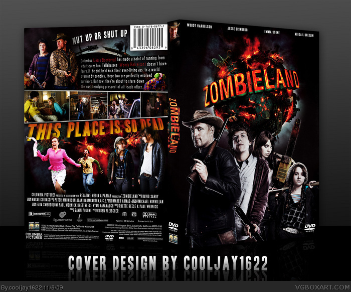 Zombieland movies box art cover by cooljay1622