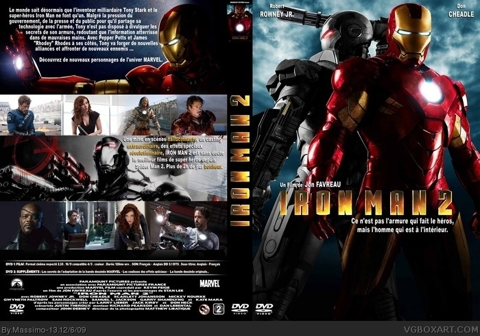 Iron Man 2 box art cover