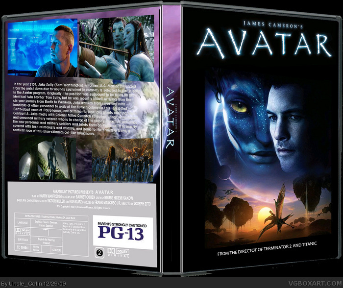 James Cameron's Avatar Movies Box Art Cover By Uncle_Colin