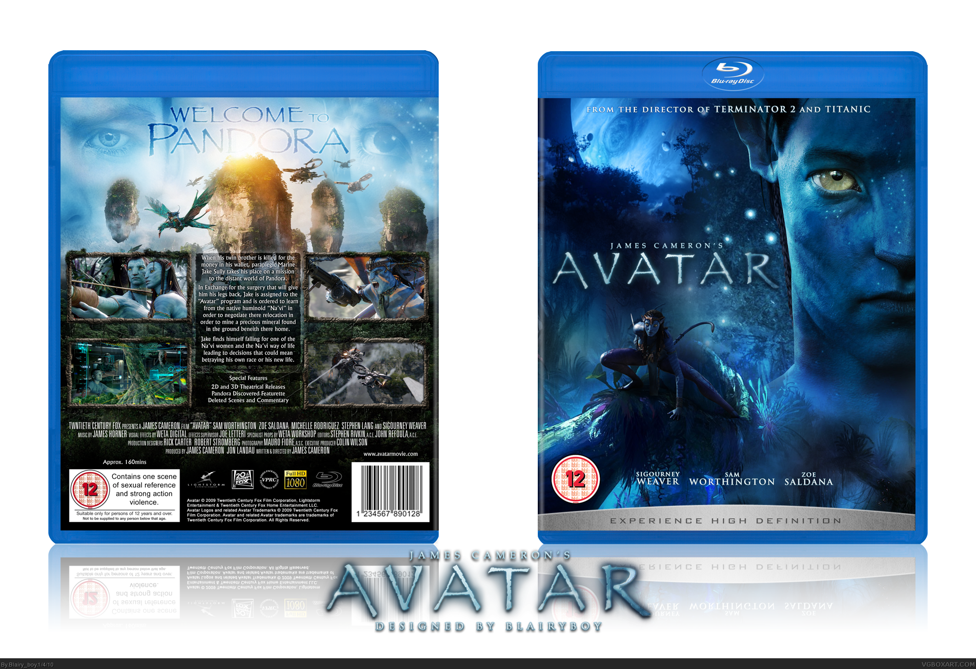 Viewing full size James Cameron's Avatar box cover