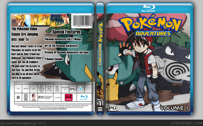 Pokemon Adventures Volume 1 box art cover