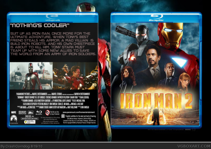 Movies   187  Iron Man 2 Box CoverIron Man 2 Cover Art