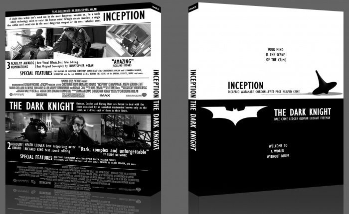 Inception Dvd Cover Art The Dark Knight/ Incep...