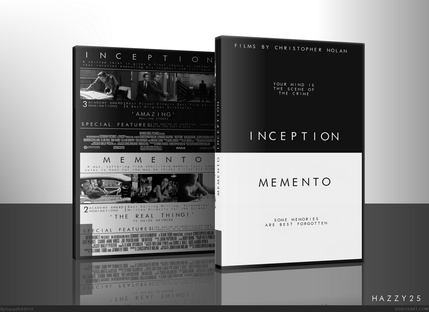 Inception Memento Double Pack Dvd Movies Box Art Cover
