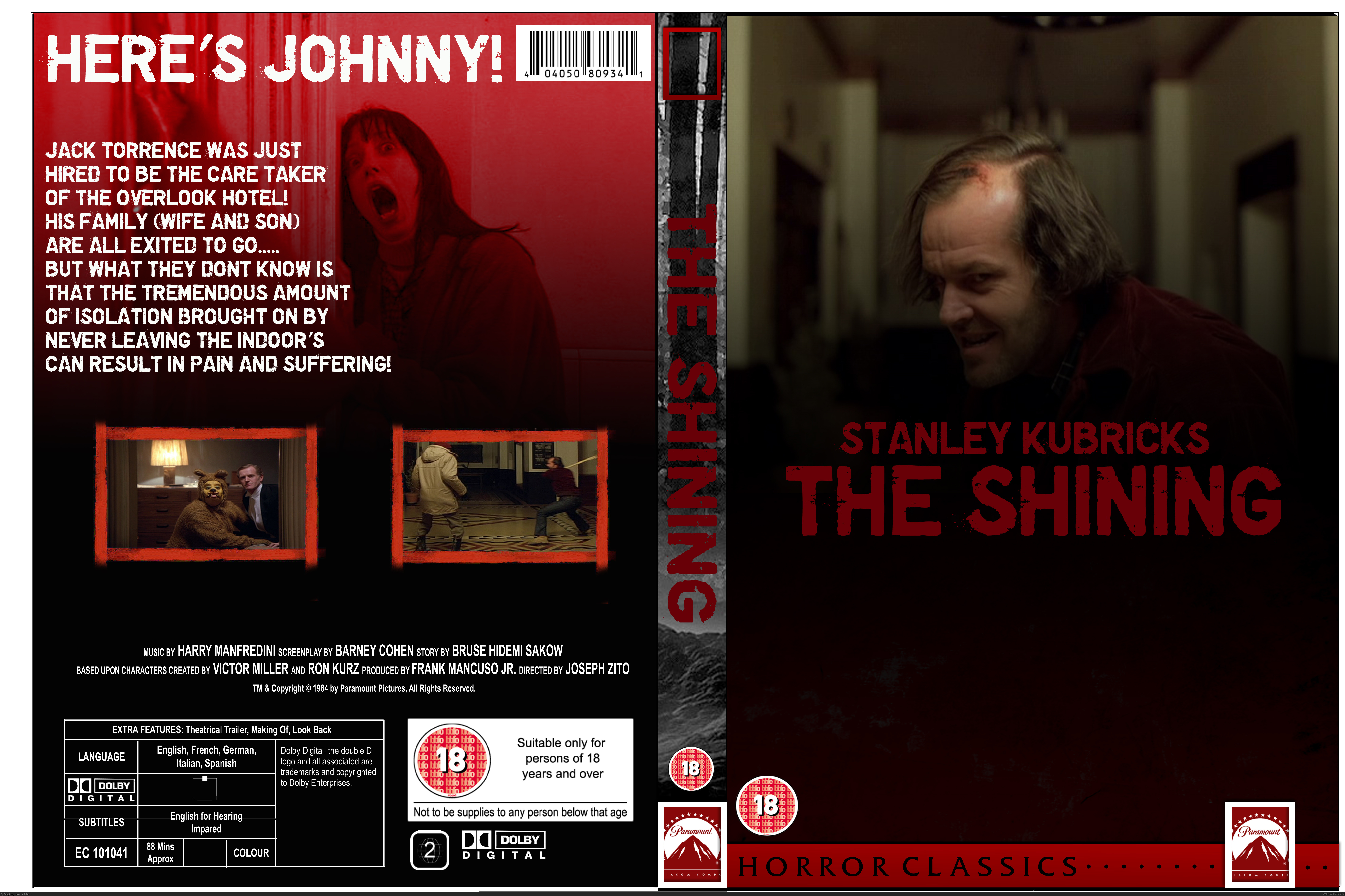 the shining movies box art cover by rex the dinosoar