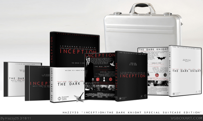 Inception /The Dark Knight DVD Limited Edition box art cover