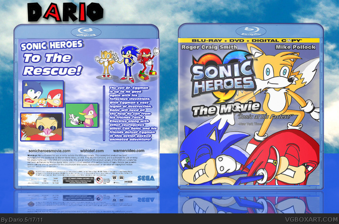 Sonic Heroes The Movie box art cover