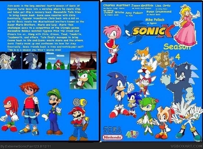 Sonic X Season 4 Movies Box Art Cover By Extremesonicfan123