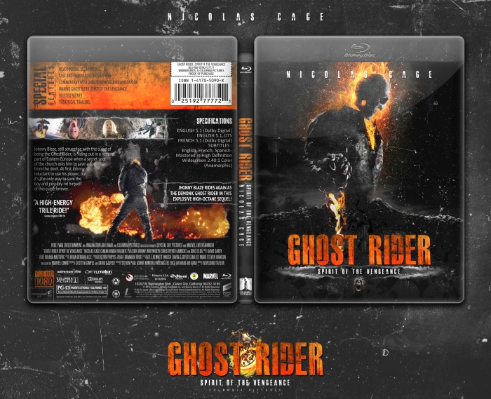 Ghost Rider Spirit of the Vengeance Movies Box Art Cover by