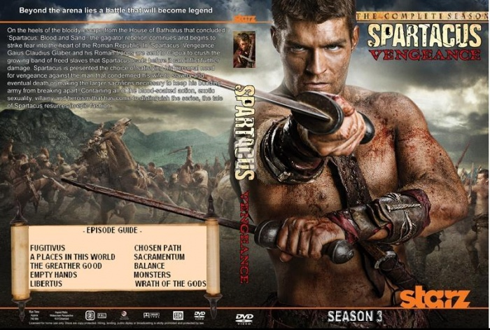 spartacus vengeance box art cover