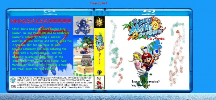 Super Mario Sunshine: The Movie! box art cover