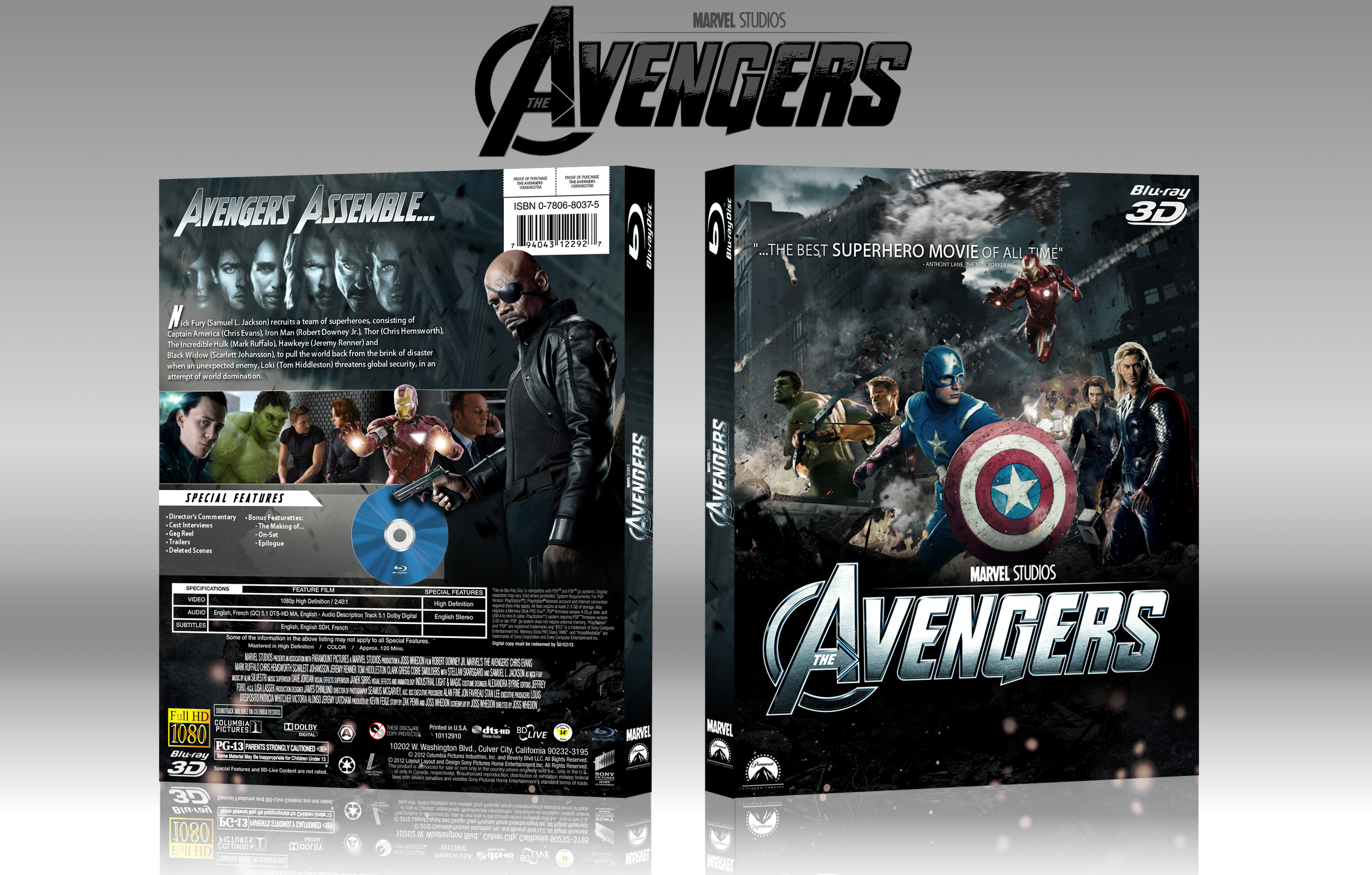 The Avengers box cover