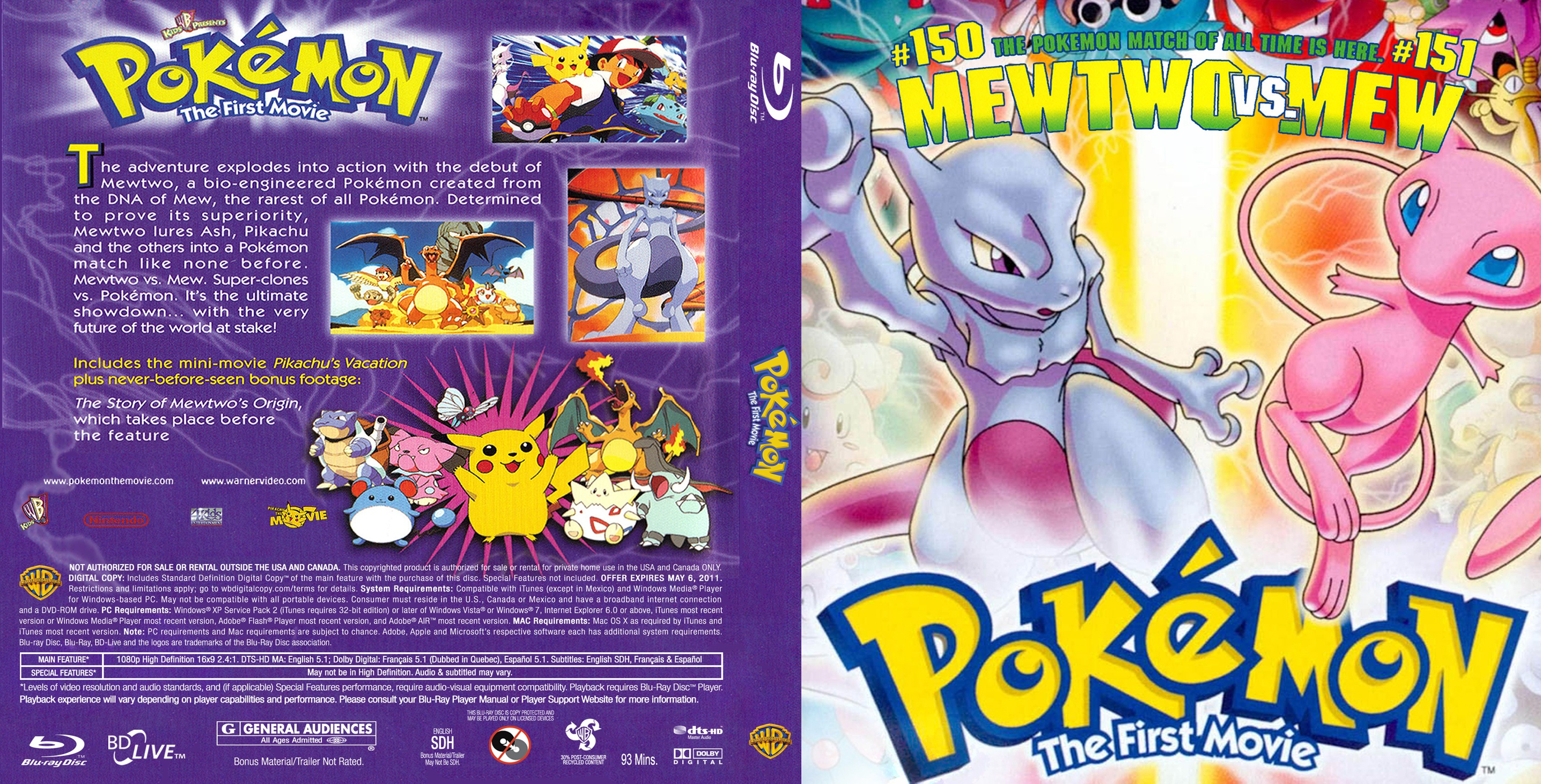Watch Pokémon The First Movie  Mewtwo Strikes Back 1998
