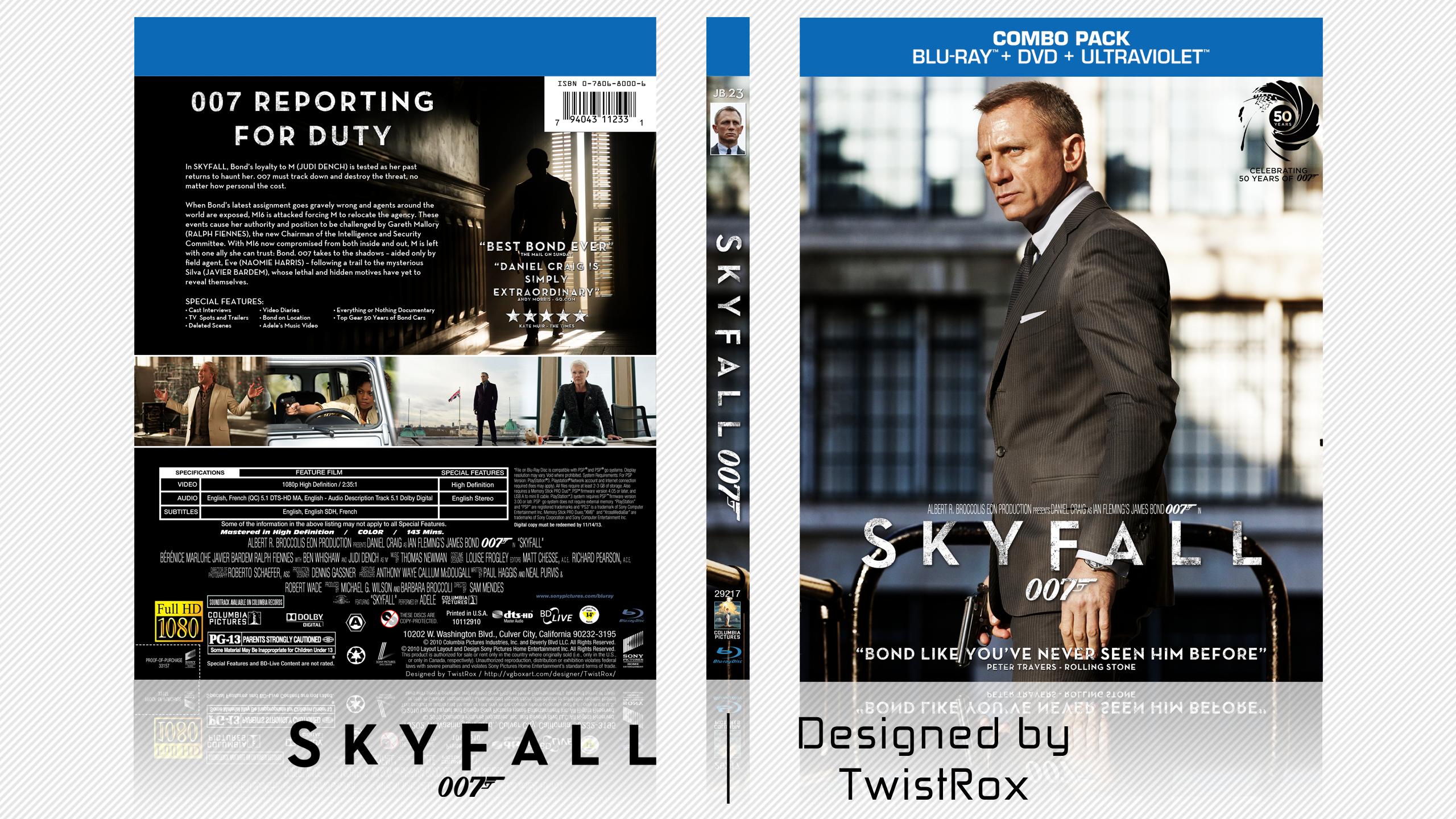 007  Skyfall Mov...007 Skyfall Dvd Cover
