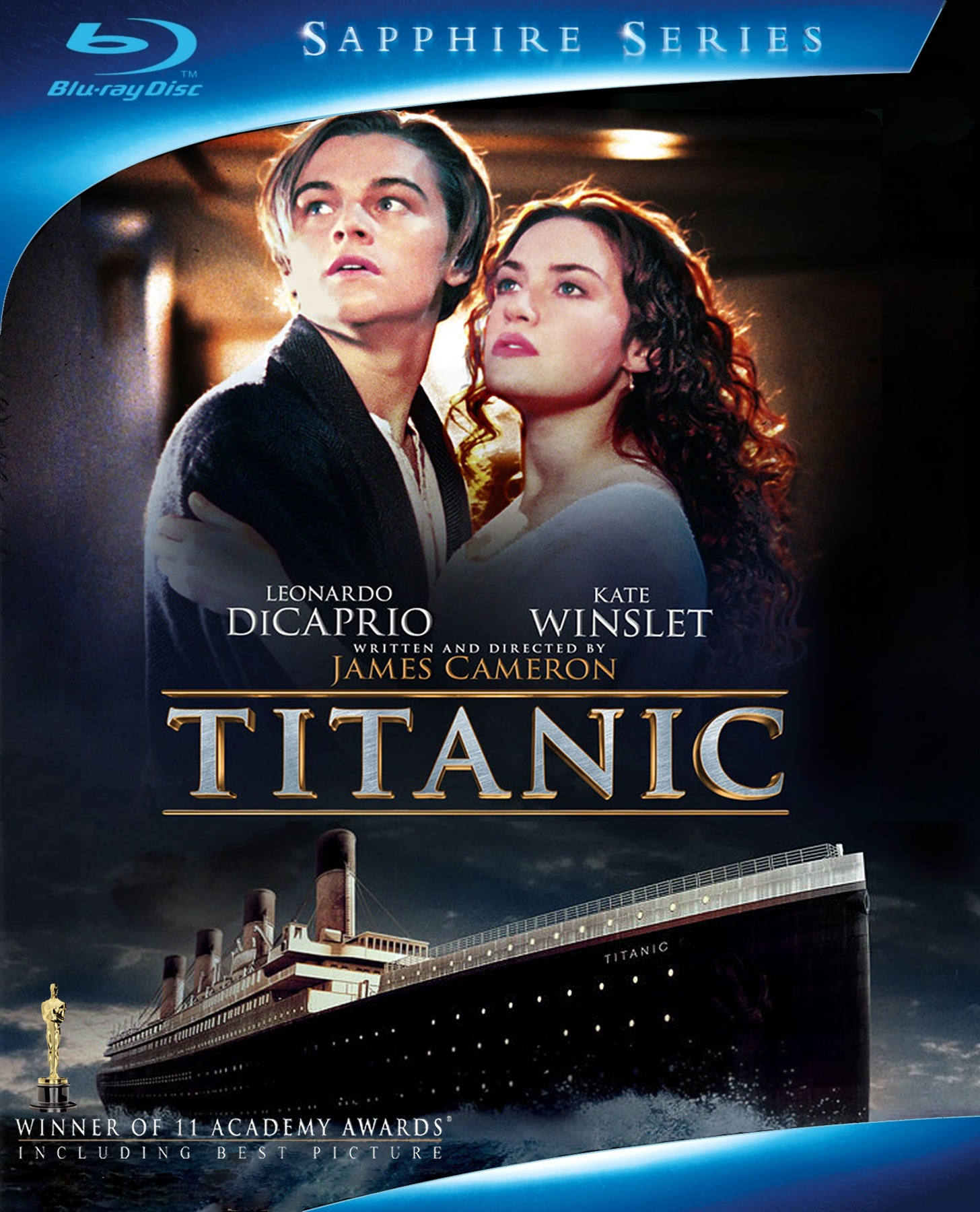 Titanic Movie: Titanic (1997) Sapphire Series Movies Box Art Cover By