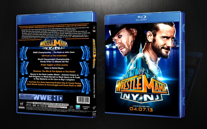 WWE Wrestlemania 29 box art cover