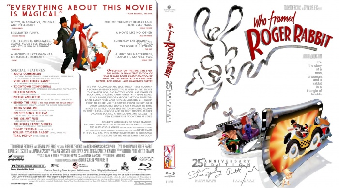 Who Framed Roger Rabbit 25th Anniversary Movies Box Art Cover by ...