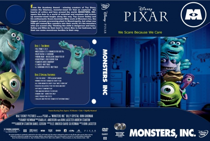 Monsters Inc. box art cover