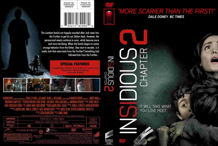 Insidious: Chapter 2 box art cover