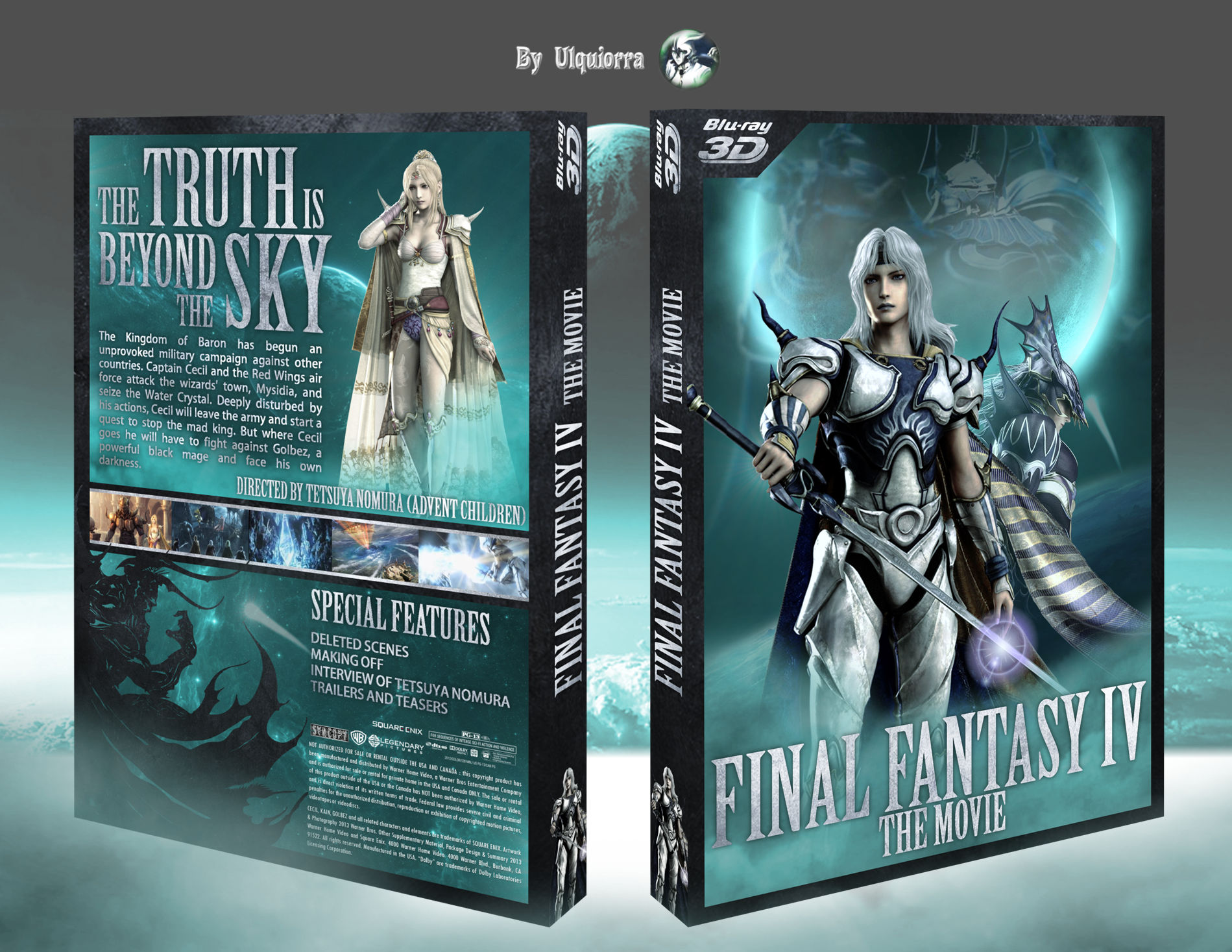 viewing full size final fantasy iv the movie box cover