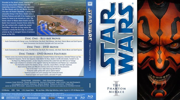 Star Wars I: The Phantom Menace box art cover