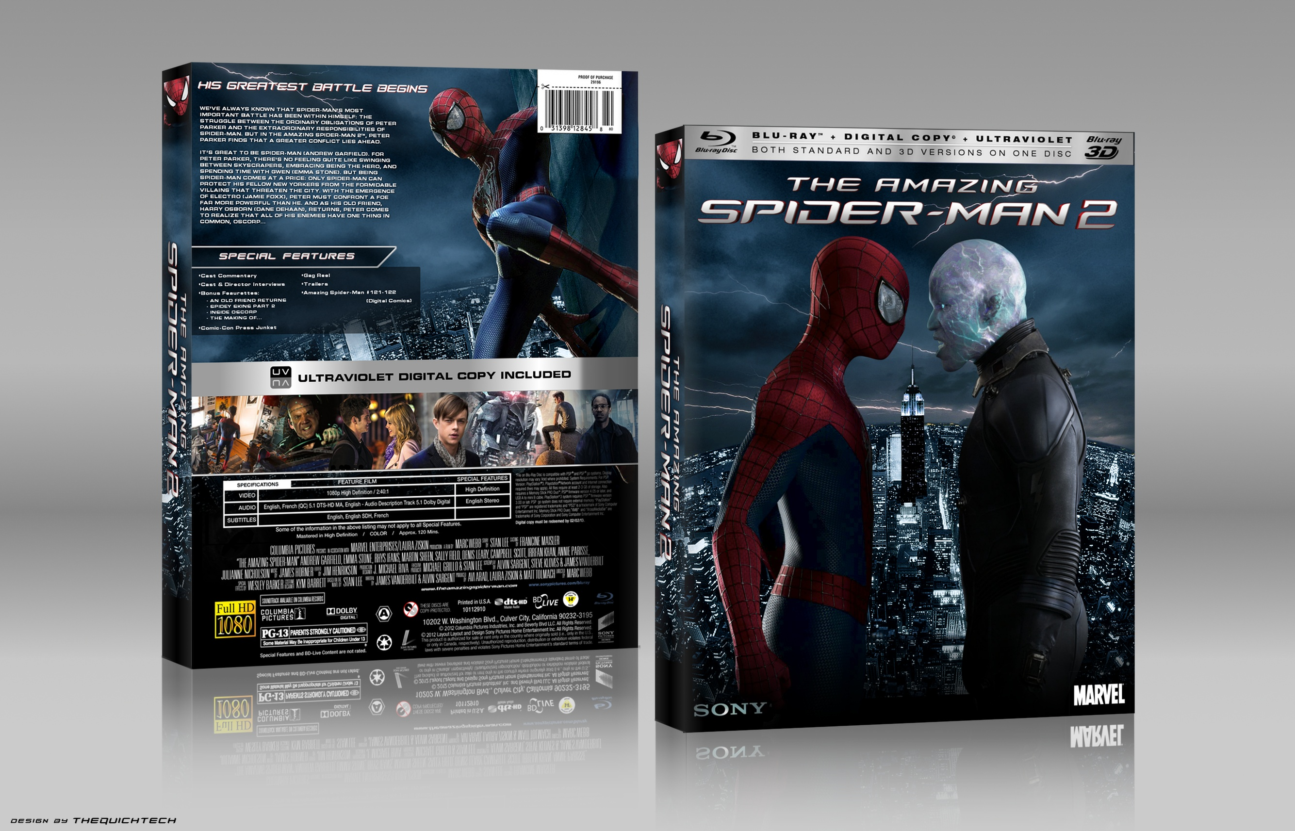 The Amazing Spider-Man 2 box cover
