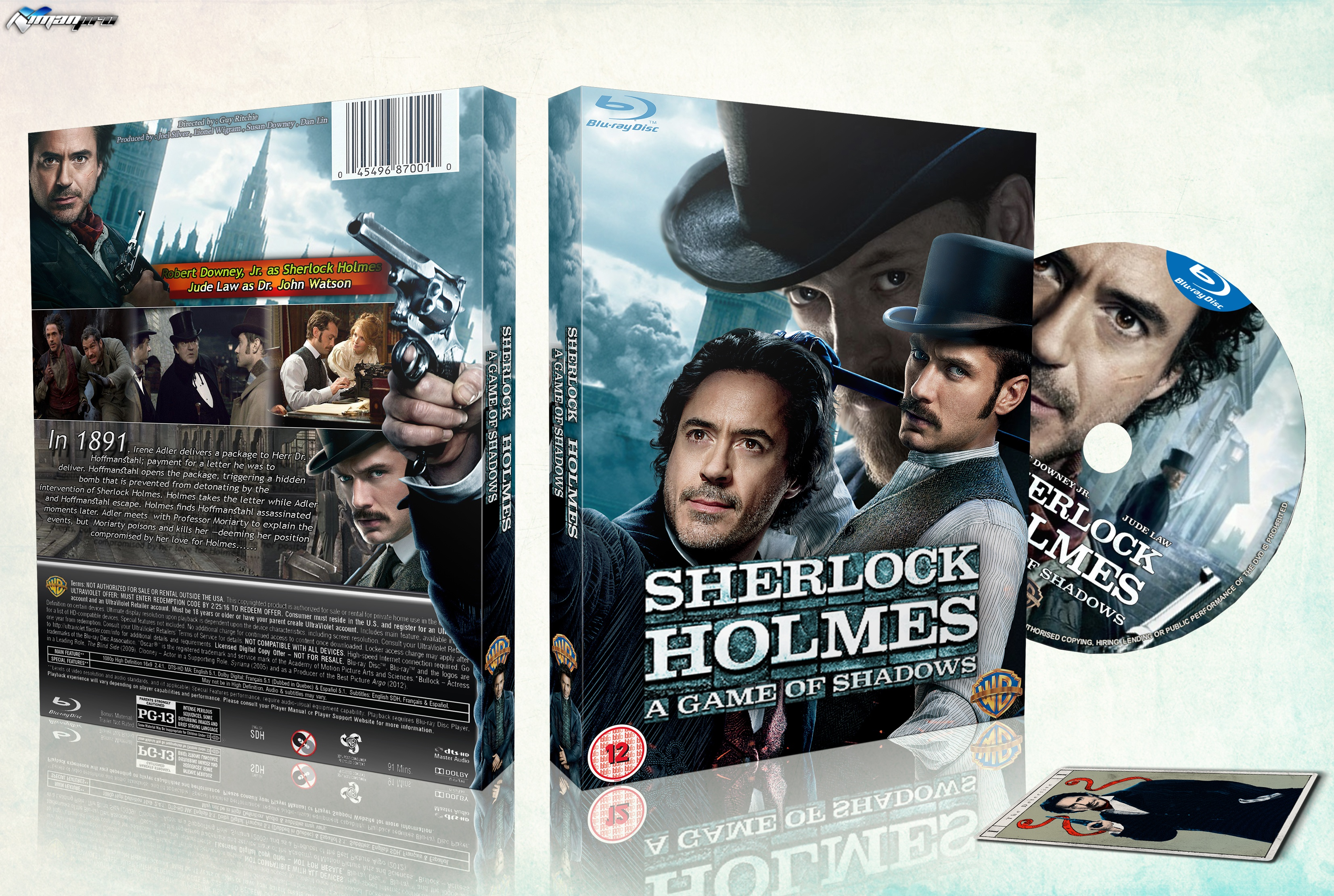 Sherlock Holmes : A Game of Shadows box cover