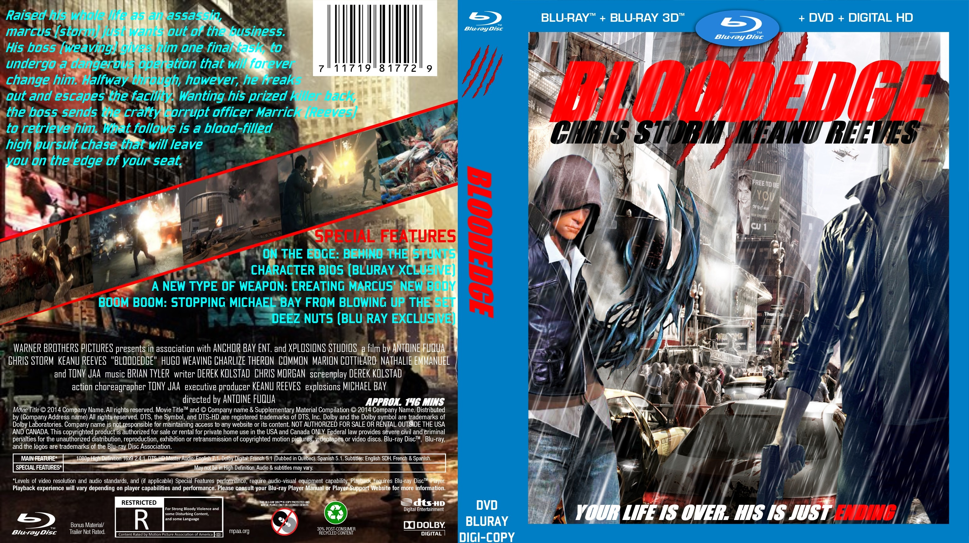 BloodEdge (Movie) box cover