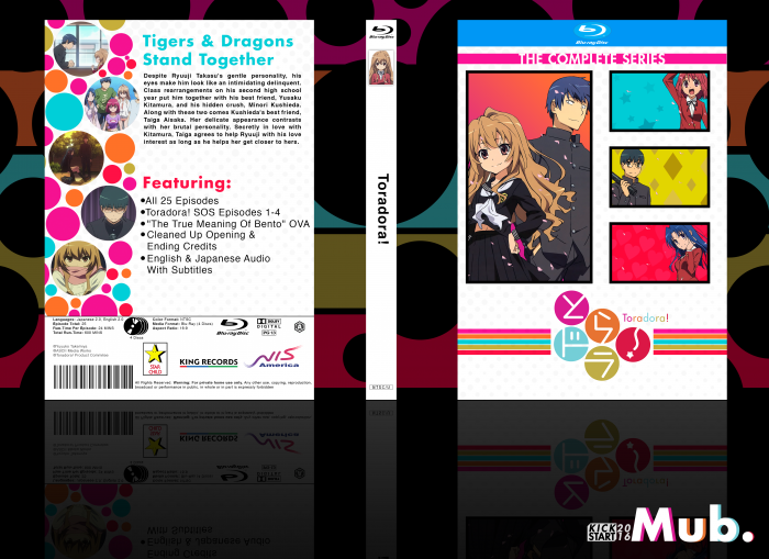 Toradora! box art cover