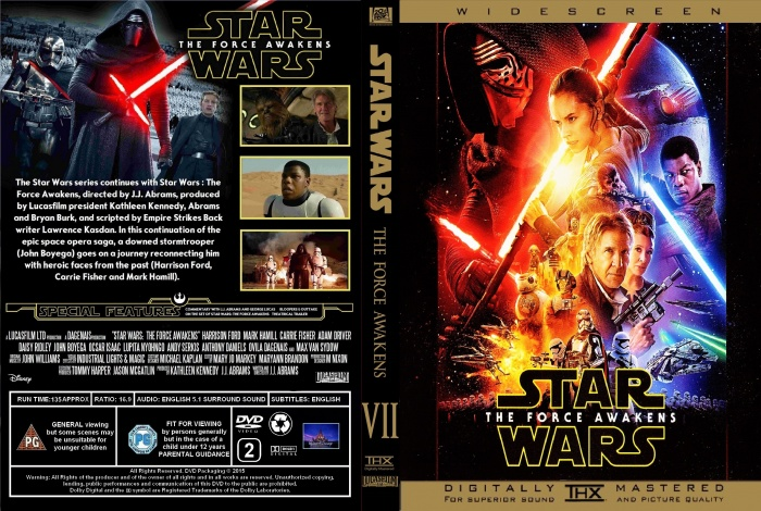 star wars the force awakens dvd box art cover