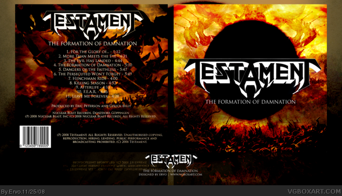 Testament - The Formation of Damnation box art cover