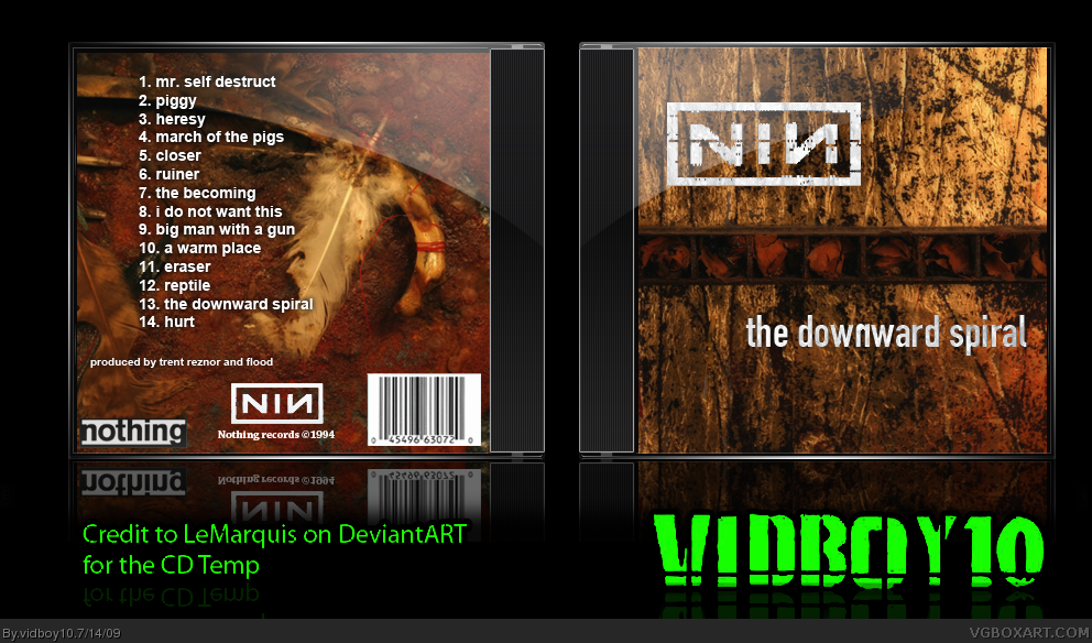 Nine Inch Nails - The Downward Spiral Music Box Art Cover by vidboy10