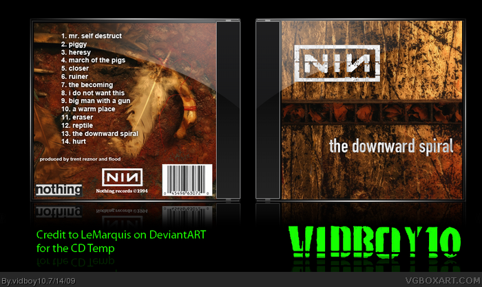 Nine Inch Nails - The Downward Spiral box art cover